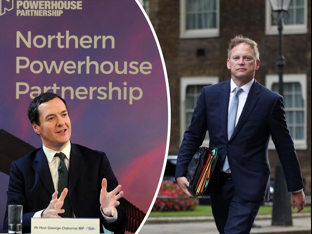 George Osborne, chair of the Northern Powerhouse Partnership, and Northern Powerhouse Minister Grant Shapps. Photo: JPI Media/PA