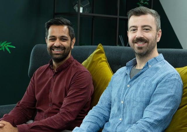 Dr Jujar Singh Panesar (left) and Dr Andrea De Santis of Factor AI.