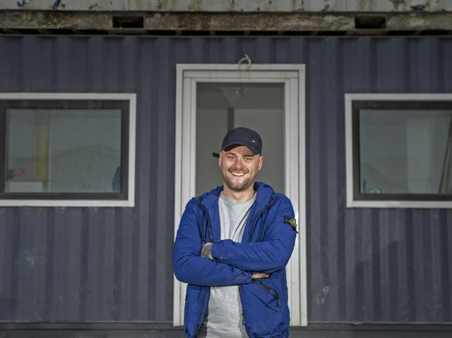 Haydn Lee Jessop, of Vulnerable Citizen Support, hopes to have someone in the container home by Christmas.