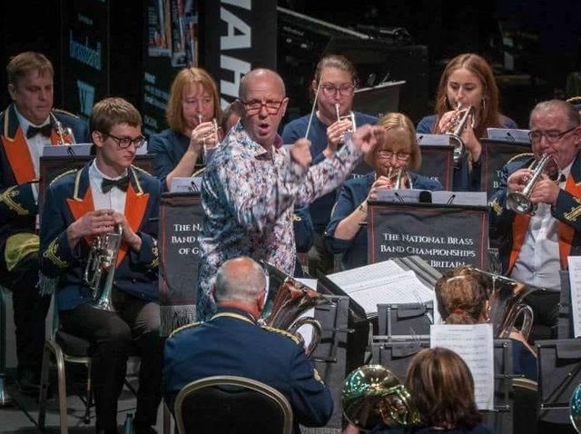 The band has not played in full together since March. Photo: Barnsley Brass