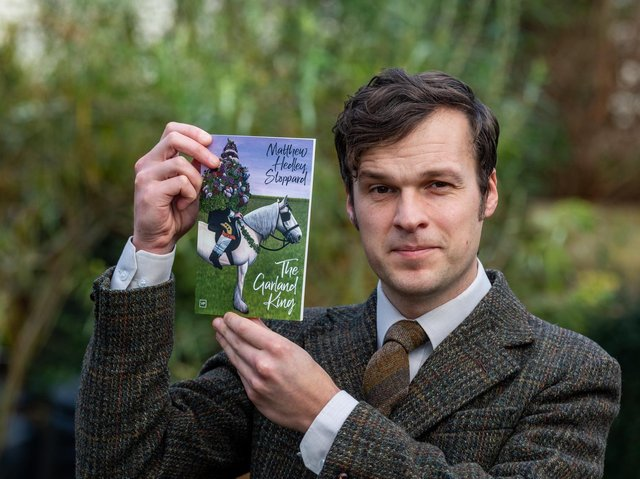 Otley town poet Matthew Hedley Stoppard with his new collection.