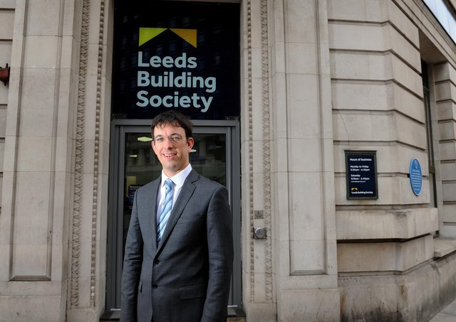 Richard Fearon, chief executive of Leeds Building Society at its  head office on Albion Street. Picture by Simon Hulme