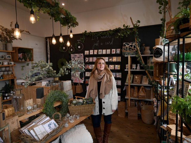 Beth Elsdon in her store Walter and May