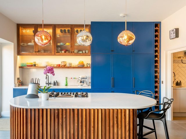 The bespoke kitchen designed and made by FloCoe