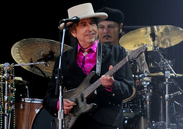 Bob Dylan performing on stage at the Hop Farm Festival in 2010. Picture: Gareth Fuller/PA Wire