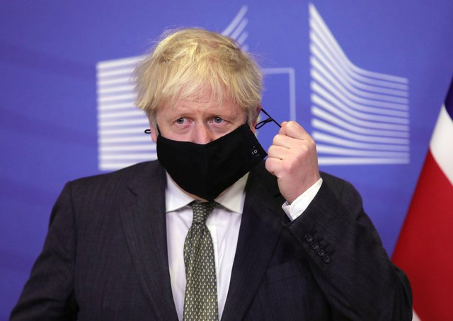 This was Boris Johnson attending Brexit talks in Brussels last week.