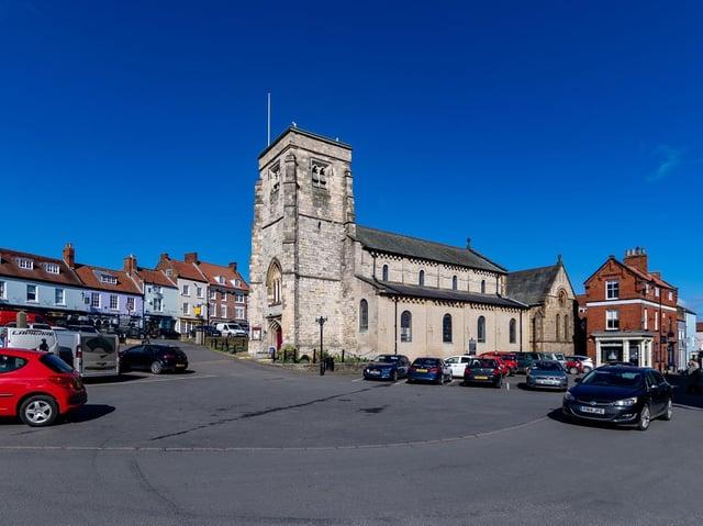 St Michael's Church in the Market Place, Malton.
