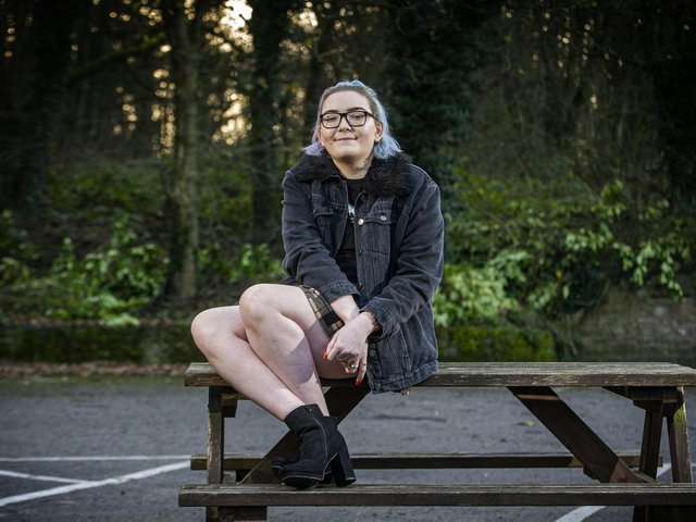 Carly Boyle, now 20, was diagnosed with liver cancer last year and has been isolated since March as she undergoes treatment. Image: Tony Johnson