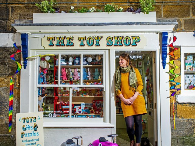 Louise Shackleton at  The Toy Shop in Robin Hood's Bay. (Tony Johnson).