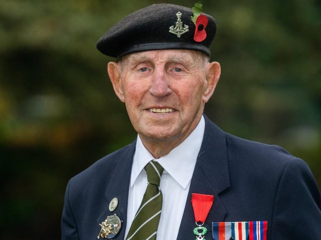 D-Day veteran Ken Cooke, who served with the army.