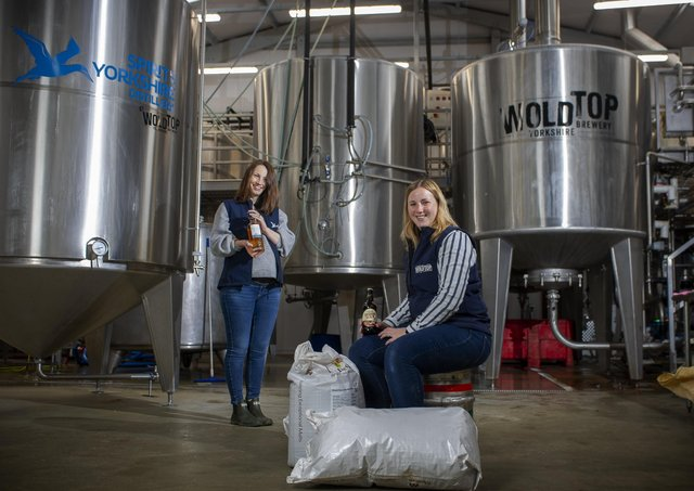 Sisters  Jenni Ashwood and Kate Balchin have both come back to work in the family business at Wold Top brewery and the distillery where Yorkshire's first single malt whisky is made near Filey.  Picture Tony Johnson