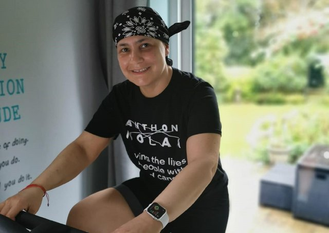 Ellissa Baskind is cycling the distance life saving stem cells travelled from her  sister in Israel to her home in Leeds