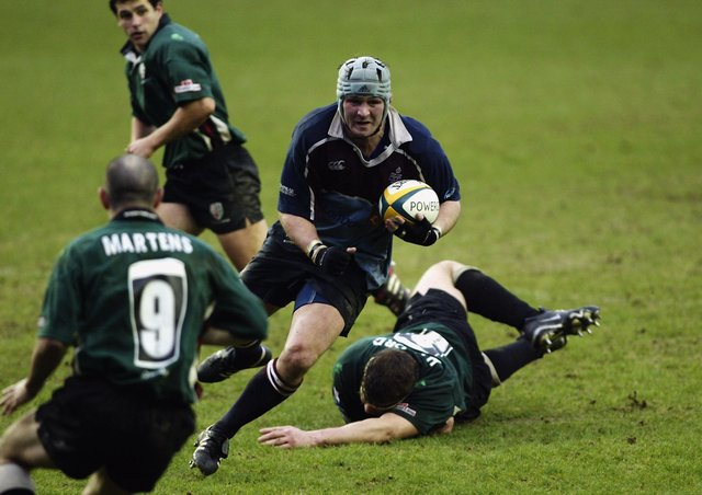 CLAIM: Neil Spence, action for Rotherham Titans during a Powergen Cup Quarter Final match against London Irish in January  2003. Picture: Warren Little/Getty Images