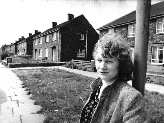 Andrea Dunbar in Brafferton Arbor, Bradford. Photo: ANL/Shutterstock