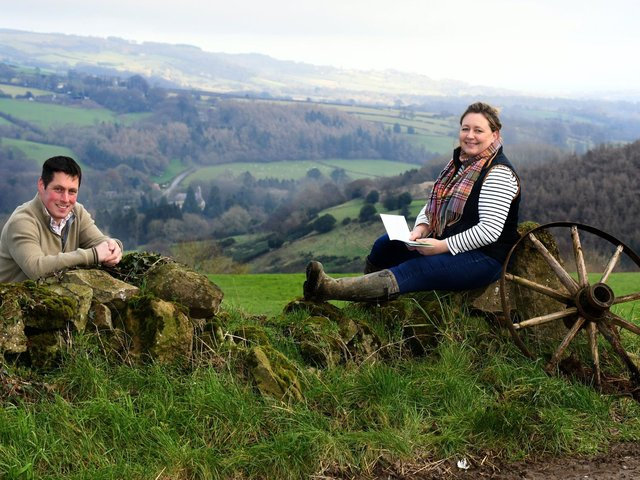 Peter Welford and Ruth Cockrem on their dairy farm near Whitby