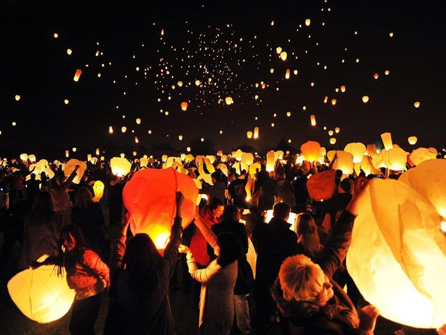 The British Horse Society is asking people to think twice before releasing sky lanterns this festive period