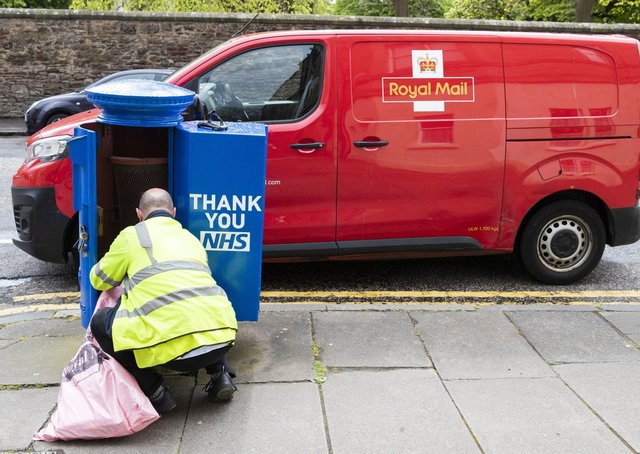 Some post boxes were painted blue in support of the NHS as Jayne Dowle praises posties and delivery drivers - they, too, are key workers, she argues.