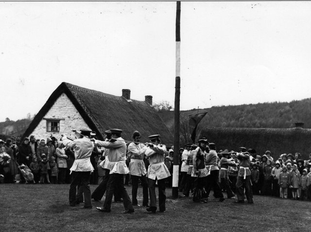 The Goathland Plough Stots are still performing sword dances to this day. Picture: Geoffrey Willey.