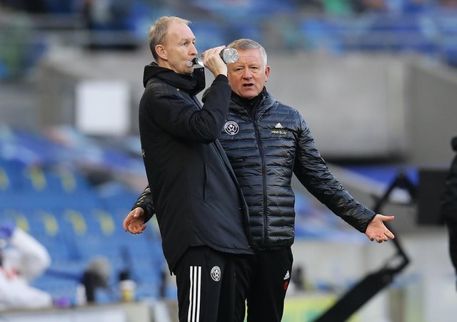 BIG ASK: Sheffield United boss Chris Wilder and assistant Alan Knill have a massive job ahead of them to try and avoid relegation. Picture: David Klein/Sportimage