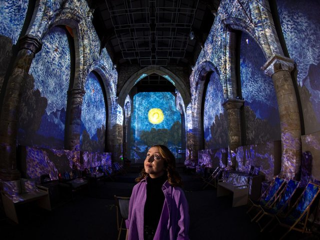 exhibition manager Evie Blackstock in York St Mary's. (Bruce Rollinson).