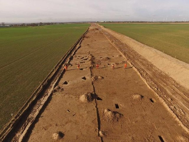 Archaeologists have been working on the route of a cable across East Yorkshire (Pic: Orsted)
