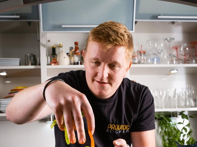 Dan makes food for delivery and cook-at-home meal. (Picture: Neil Holmes).