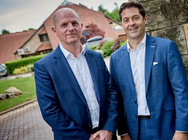 Expanded: Will Linley, left, will join the board of the merged firm as group managing director and Nick Simpson, right, will be CEO of Yorkshire.