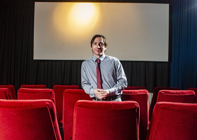 Dan Westgarth at The Station Cinema in Richmond. Picture Tony Johnson