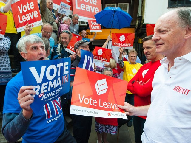 Remain and Leave voters clash at a Brexit demonstrates in London