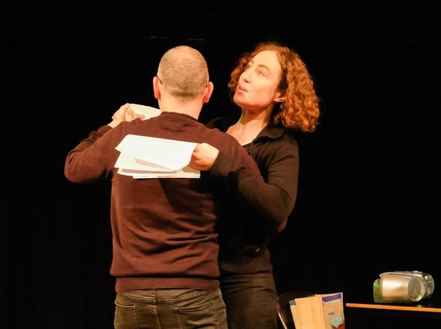Actors perform a work-in-progress script at a Script Yorkshire Page to Stage evening.