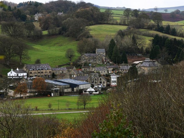 Pateley Bridge with the cricket club and showground in the foreground. (Jonathan Gawthorpe).