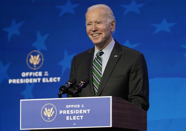 President-elect Joe Biden's inauguration takes place today amid tight securty.