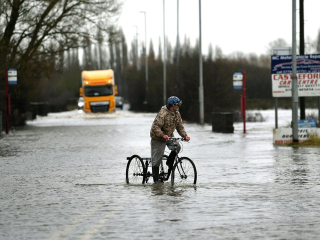 Flooding in Allerton Bywater.