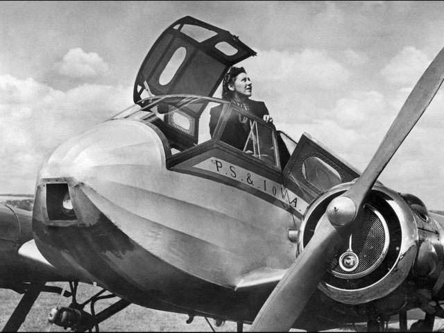 Pioneering aviator Amy Johnson seen here in 1939. (Credit: AFP via Getty Images).