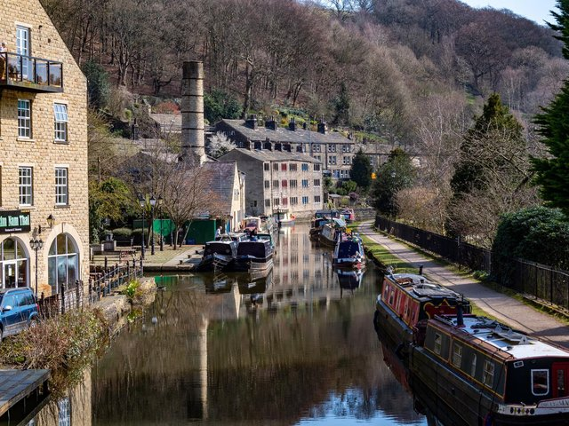 Hebden Bridge's canal views help draw in tourists. (James Hardisty).