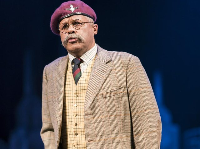Gary Wilmot on stage in Flowers for Mrs Harris, which premiered in Sheffield in 2016.(Picture: Johan Persson).