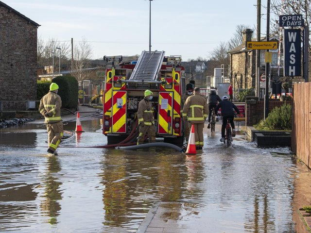 Twenty seven pumps were used to rid Malton of flood water as parts of the town remained submerged