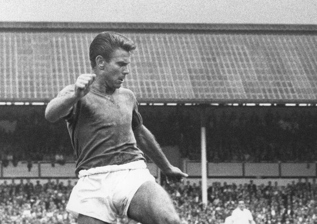 Banned for life: Defender Peter Swan in action for Sheffield Wednesday in 1961. Picture: Allsport Hulton/Archive