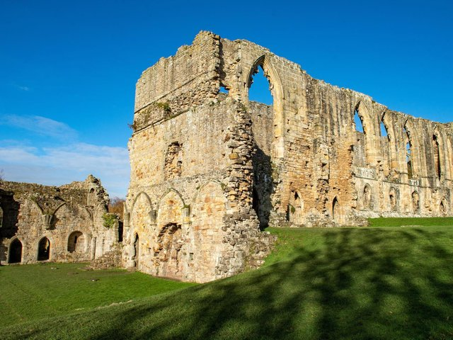 Easby Abbey is one of the best preserved monasteries of the 12th century Premonstratensian order. (Bruce Rollinson).