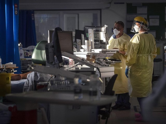 File photo dated 07/01/2021 of nurses working in the Intensive Care Unit (ICU) in St George's Hospital in Tooting, south-west London. Photo: PA