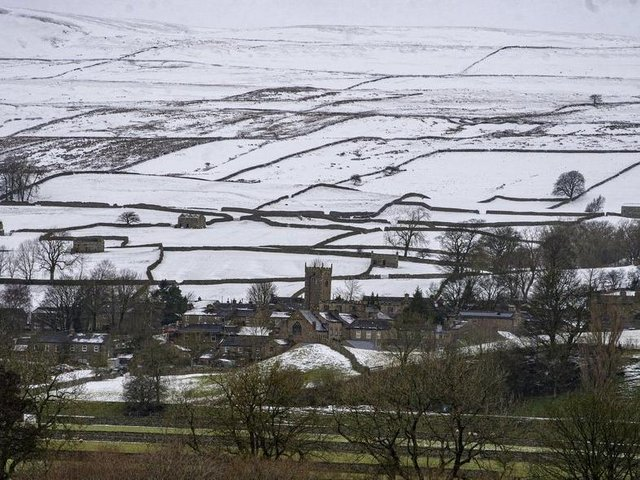 Askrigg in the snow.