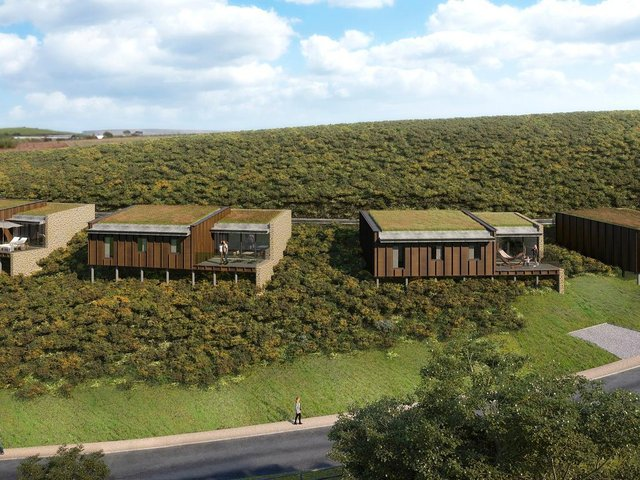 The lodges with sea views
