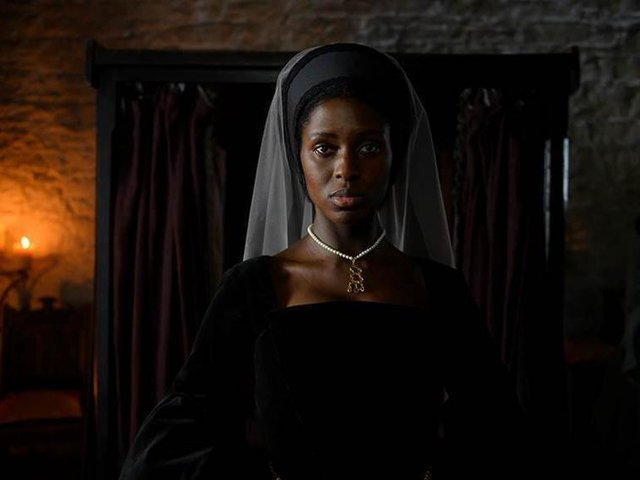 Jodie Turner-Smith as the eponymous role in upcoming Channel 5 production, Anne Boleyn. Photo Credit: Parisa Taghizadeh/Channel 5