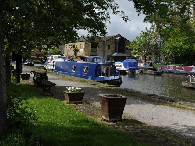 The canal in Brighouse is a major draw. Picture: Bruce Rollinson.