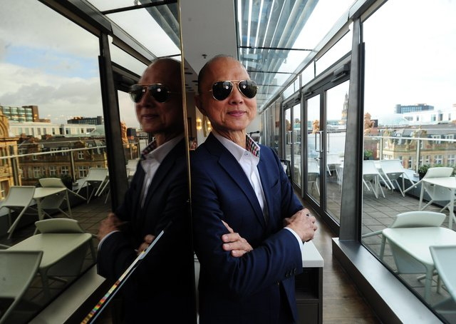 Prof Jimmy Choo at Harvey Nichols, Leeds, in 2017. Picture by Simon Hulme
