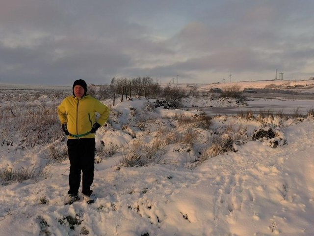 Nick Small while fell running in the snow around Calderdale. Picture: Nick Small