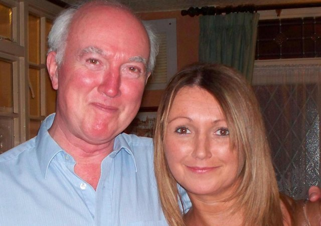 Claudia Lawrence with her father, Peter.