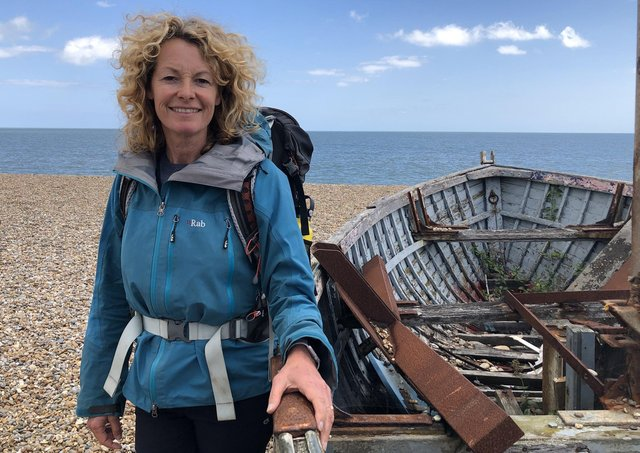 Kate Humble, presenter of a new series about coastal Britain. Picture: PA Photo/Channel 5.