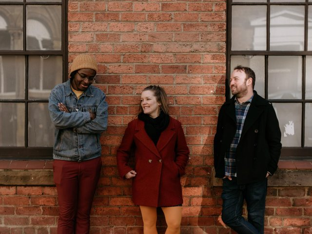 Poets Kayo Chingonyi, Joe Kriss and Rachel Bower who are taking part in Sheffield Libraries' Digesting History event. (Smart Banda)
