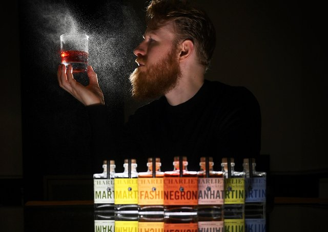 Cocktail maker Charlie Bolton at his home in Chapel Allerton, Leeds.Picture by Simon Hulme